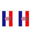 Kroatie vlaggenlijn van stof 3 m
